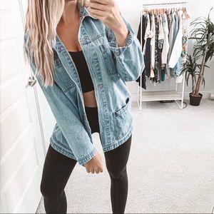 Vintage Oversized Denim Jean Button Down Shirt